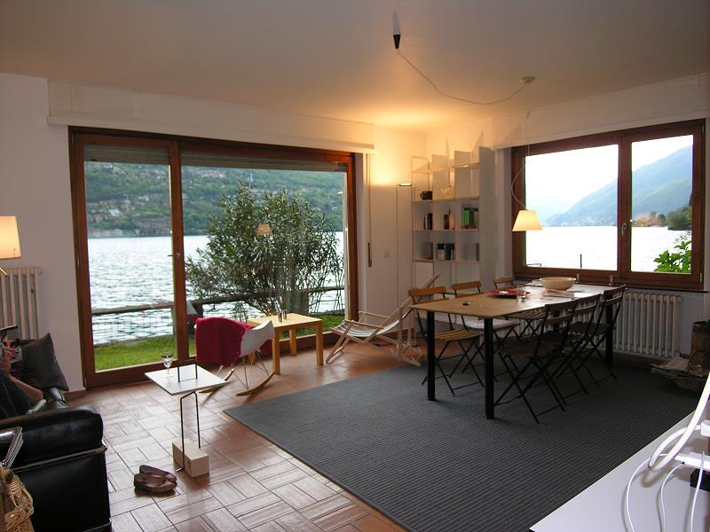 wohnung direkt am luganersee. Black Bedroom Furniture Sets. Home Design Ideas